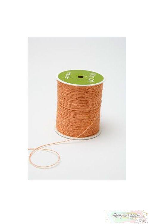 Шнур ворсистый - персиковый (90 см )