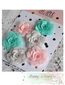 Набор цветов Pastel Flowers - микс