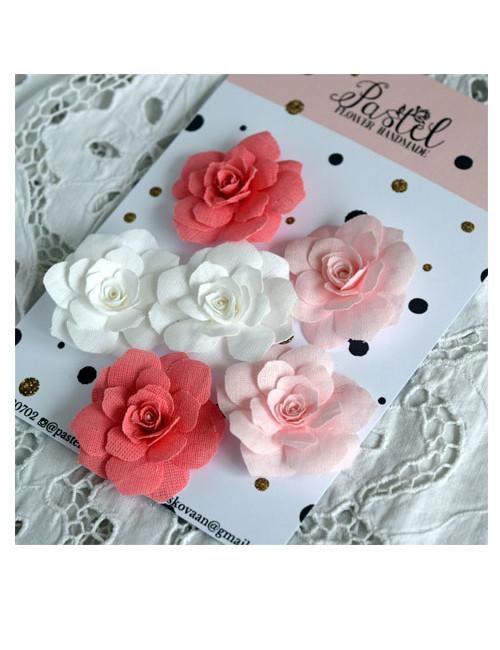 Набор цветов Pastel Flowers - розовые и белые