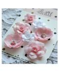 Набор цветов Pastel Flowers - светло-розовые