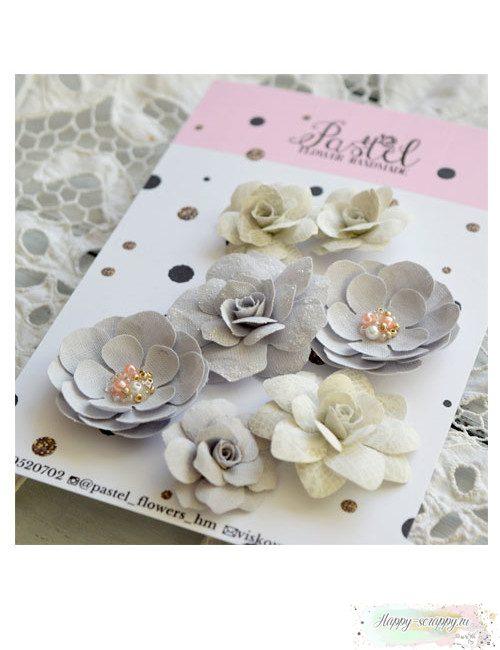 Набор цветов Pastel Flowers - серые