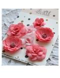 Набор цветов Pastel Flowers - коралловые