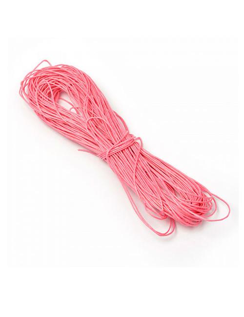 Шнур вощеный розовый 1 мм
