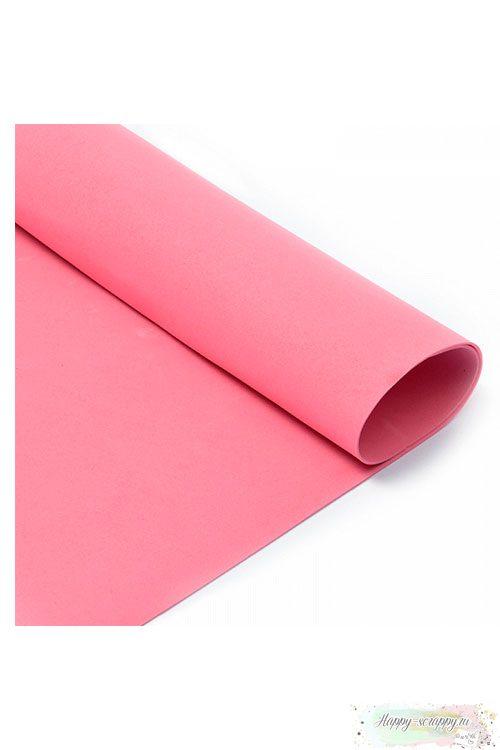 Лист фоамирана 50х50 см - темно-розовый
