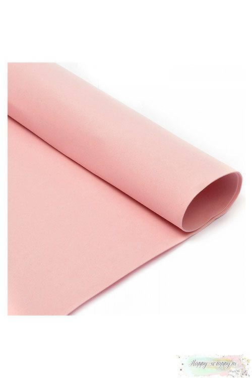 Лист фоамирана 50х50 см - светло-розовый
