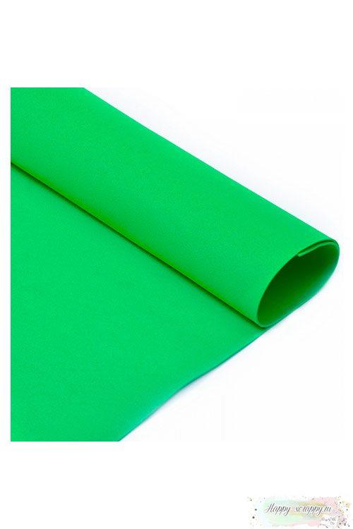 Лист фоамирана 50х50 см - ярко-зелёный
