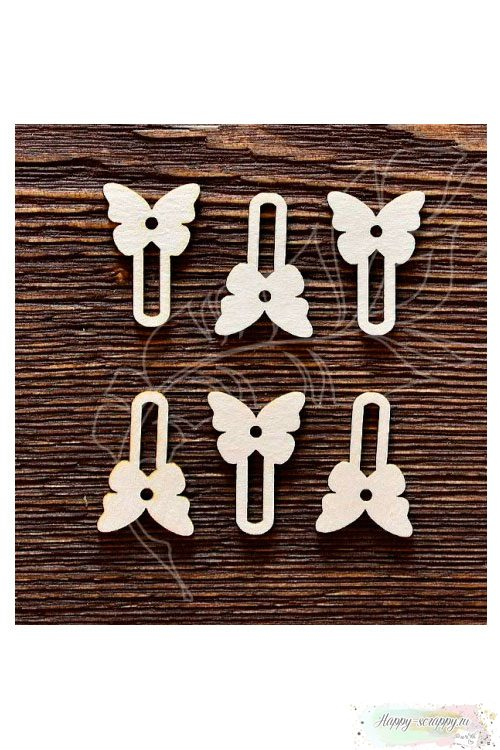 Чипборд из картона Набор анкеров бабочка