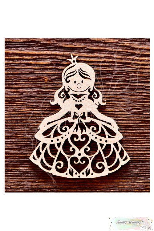 Чипборд из картона Принцесса №2