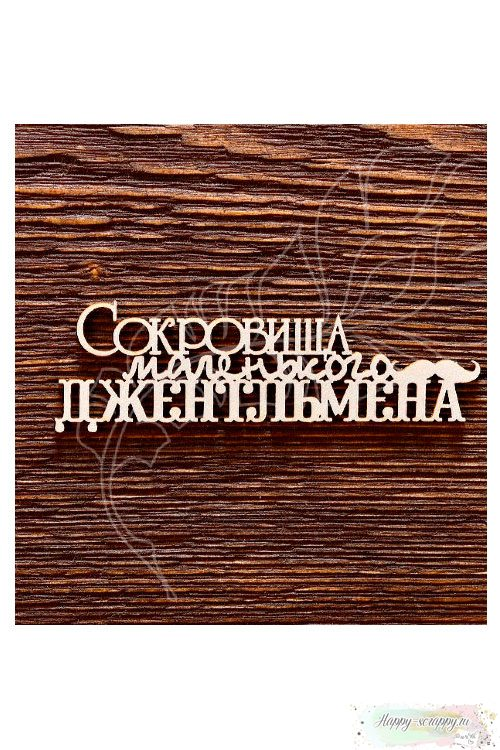Чипборд из картона Сокровища маленького джентльмена №2