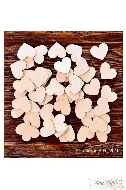 Чипборд из картона Набор сердец №4