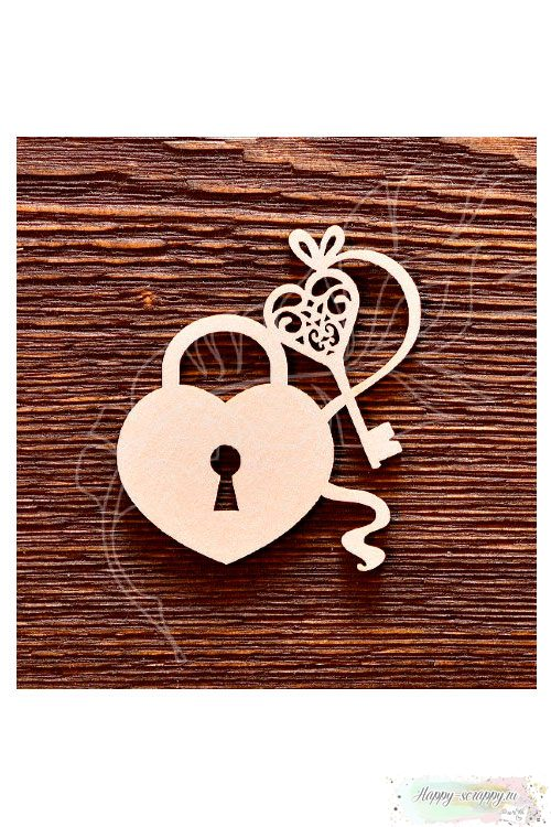 Чипборд из картона Замок с ключиком №2