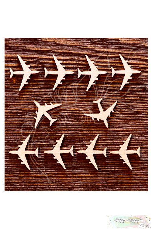 Чипборд из картона Самолётики