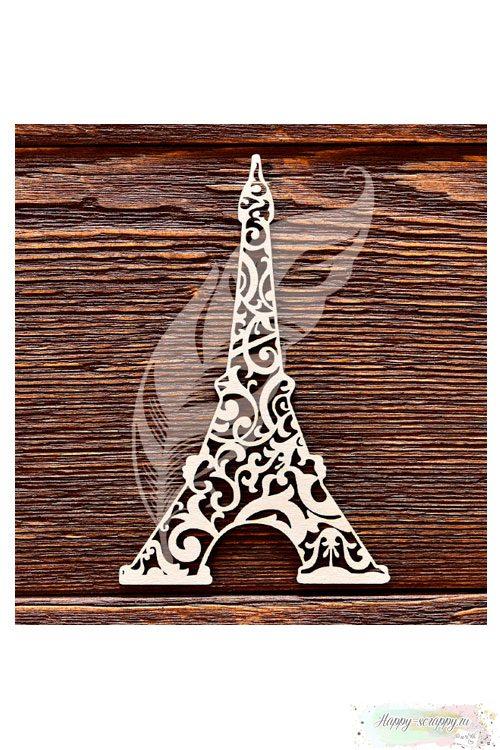Чипборд из картона Эйфелева башня