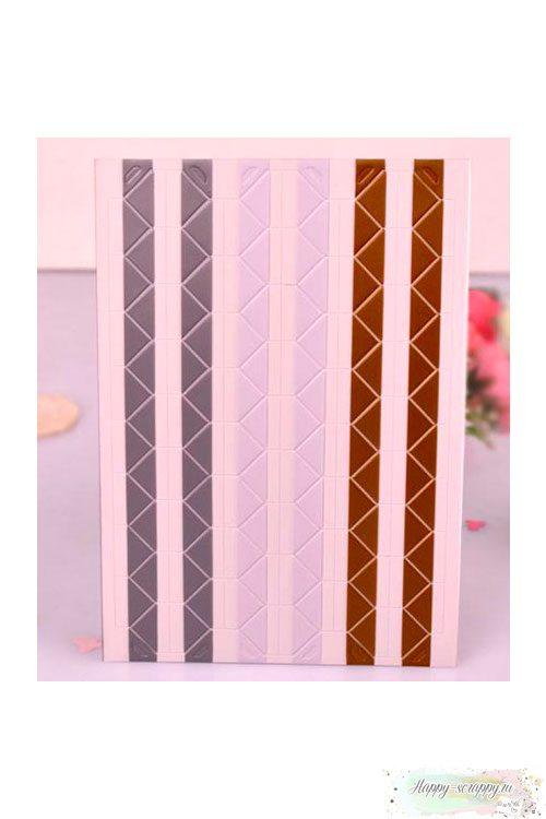 Уголки для фото микс - белые-коричневые-серые