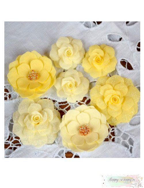 Набор цветов Pastel Flowers - желтые