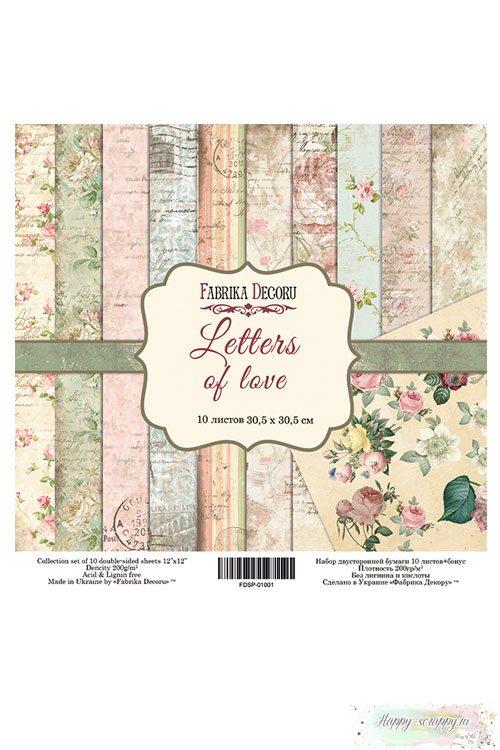 Бумага для скрапбукинга Letters of love