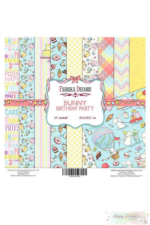 Набор бумаги для скрапбукинга Bunny bithday party