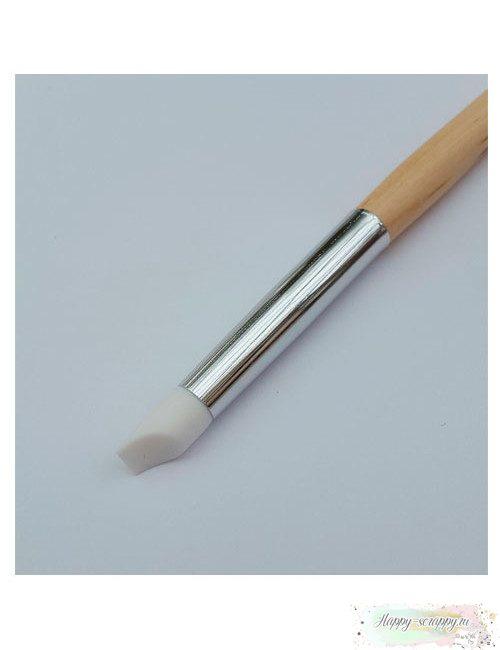 Кисточка для клея силиконовая - форма лопатки