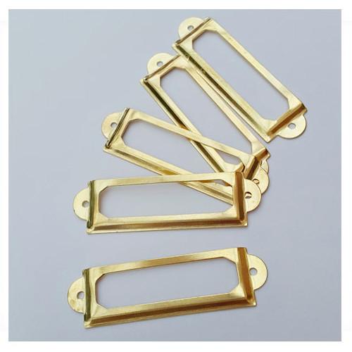 Металлическая рамочка золотая (1 шт)