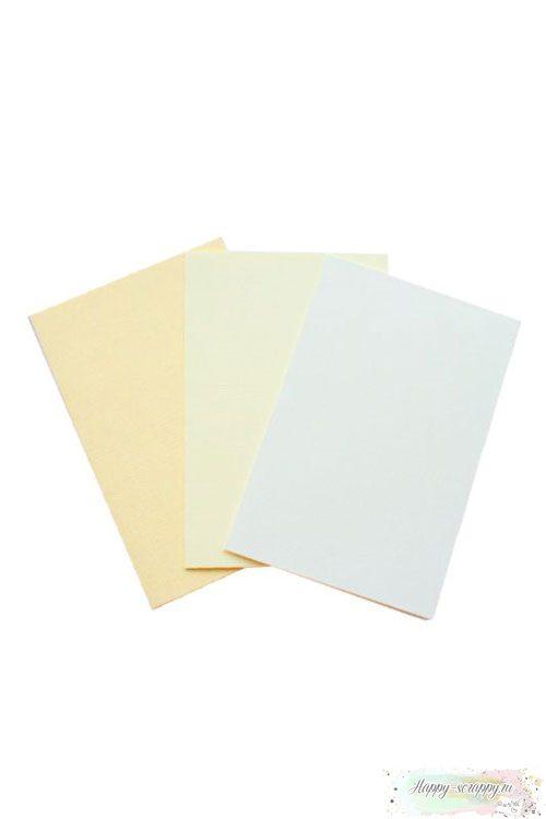Набор заготовок для открыток - белый, ванильный, бежевый