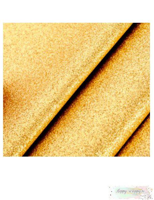 Кожзам - золотой глиттер