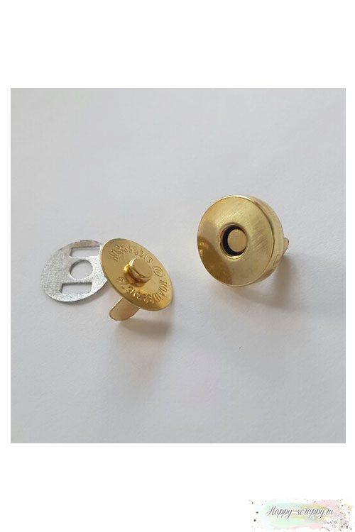 Магнитная застежка 14 мм - золото