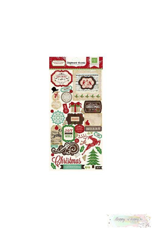 Набор чипборда из картона Reflections Christmas