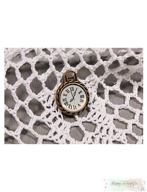 Металлическая подвеска Часы с циферблатом