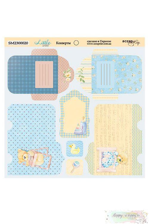 Бумага для скрапбукинга 20х20 см Little Bear - Конверты