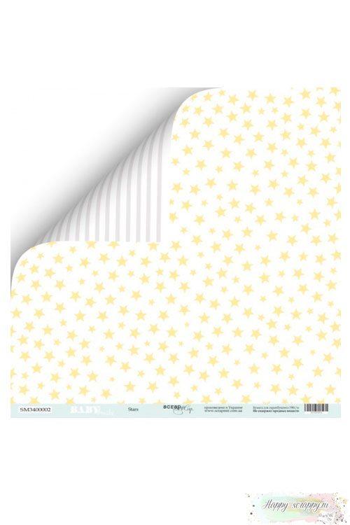 Бумага для скрапбукинга Smile Baby - Stars