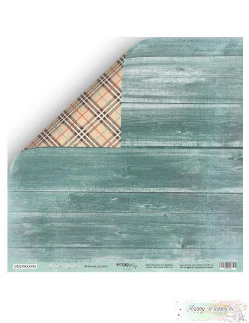 Бумага для скрапбукинга Nordic Spirits - Зеленое дерево