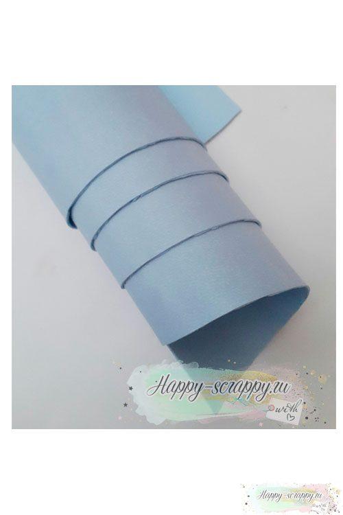 Переплетный кожзам матовый - светло-голубой