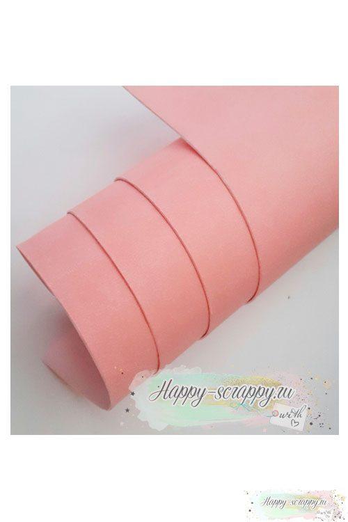 Переплетный кожзам матовый - розовый
