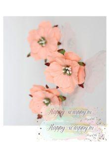 Пион - светлый розово-персиковый (1 шт)