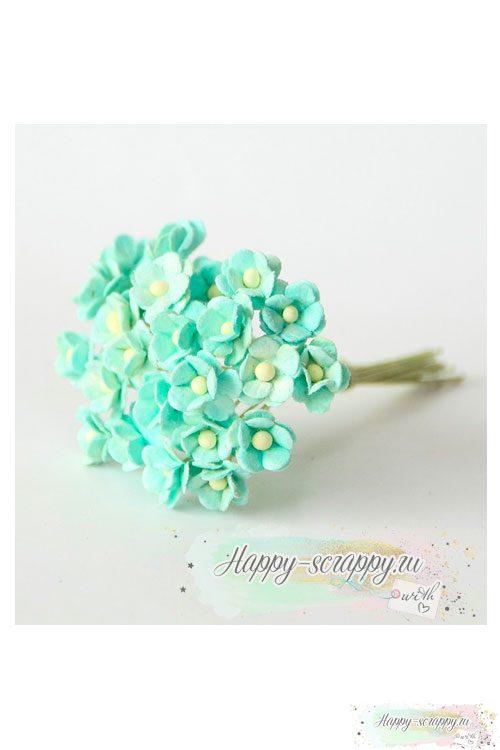 Цветы мини-вишни мятные (10 шт)