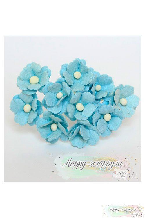Цветы вишни средние голубые (5 шт)