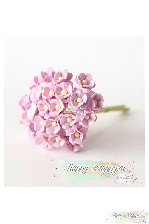 Цветы мини-вишни светло-сиреневые (10 шт)