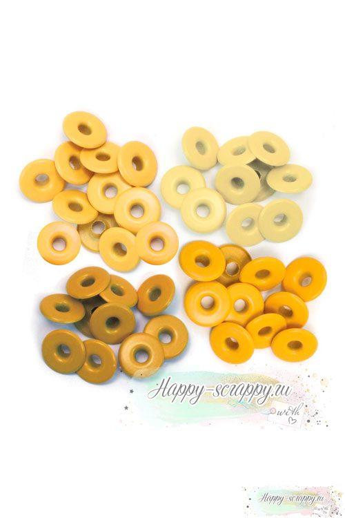 Люверсы We R - желтые широкие