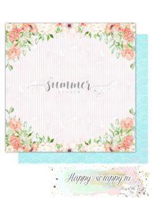 Бумага для скрапбукинга Sweet summer— Flowers