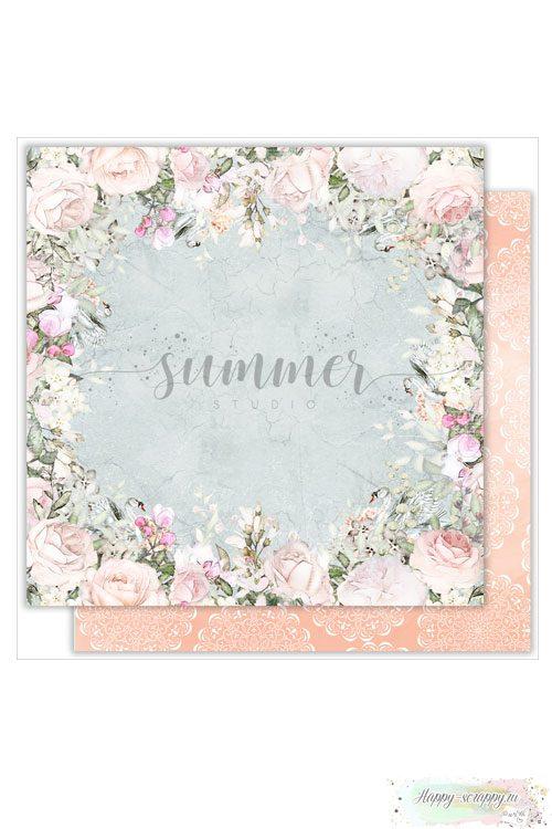 Бумага для скрапбукинга Just married— Flowers