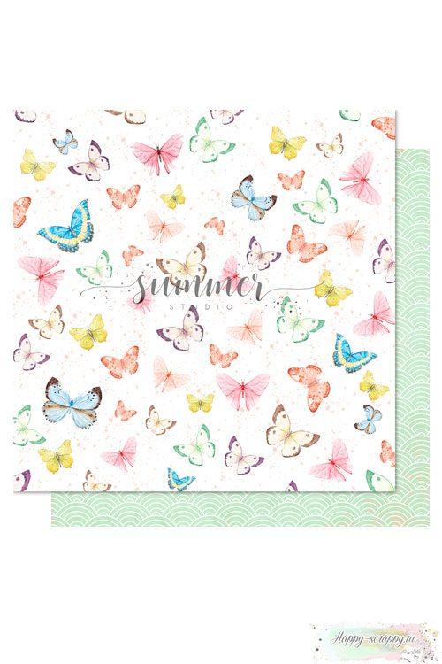 Бумага для скрапбукинга Sweet summer— Fly