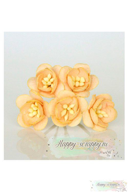 Цветы вишни светло-персиковые (5 шт)