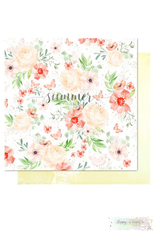 Бумага для скрапбукинга Sweet summer— Summer