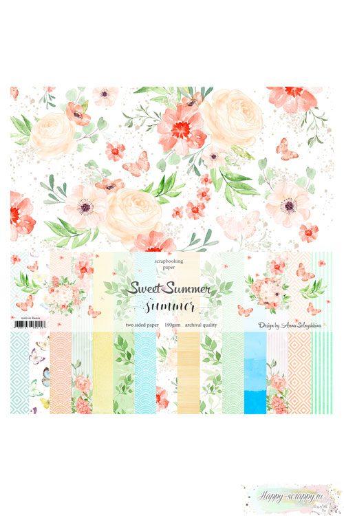 Набор двусторонней бумаги — Sweet summer