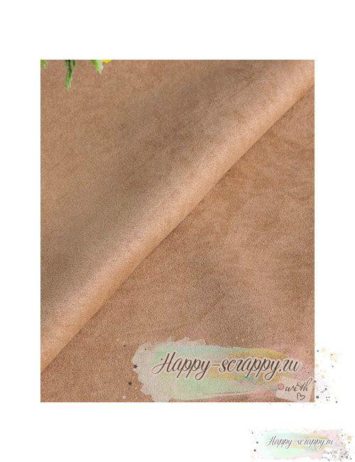 Ткань под замшу - светло-коричневая