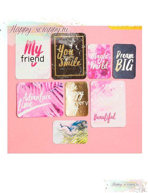 Набор карточек с фольгированием Beautiful moment