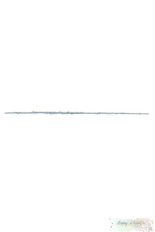 Шнур ворсистый - голубой (90 см)