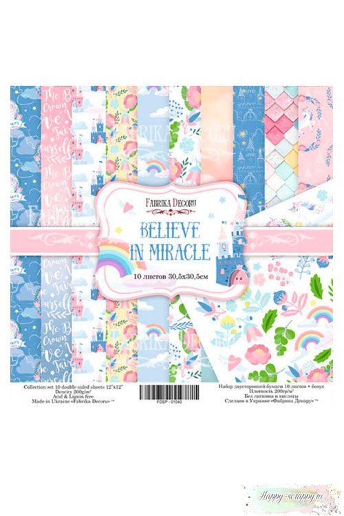 Набор бумаги для скрапбукинга Believe in miracle