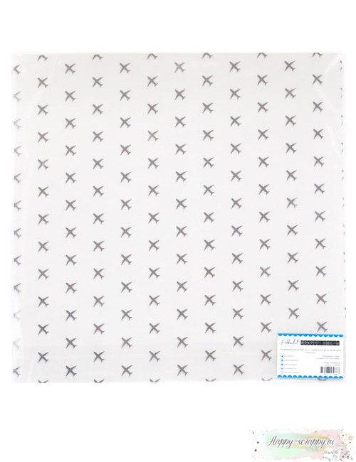 Прозрачный ацетатный лист(оверлей) с серебряным фольгированием - Аэропорт