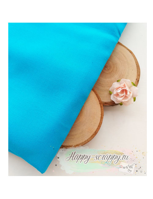 Ткань ярко-голубая